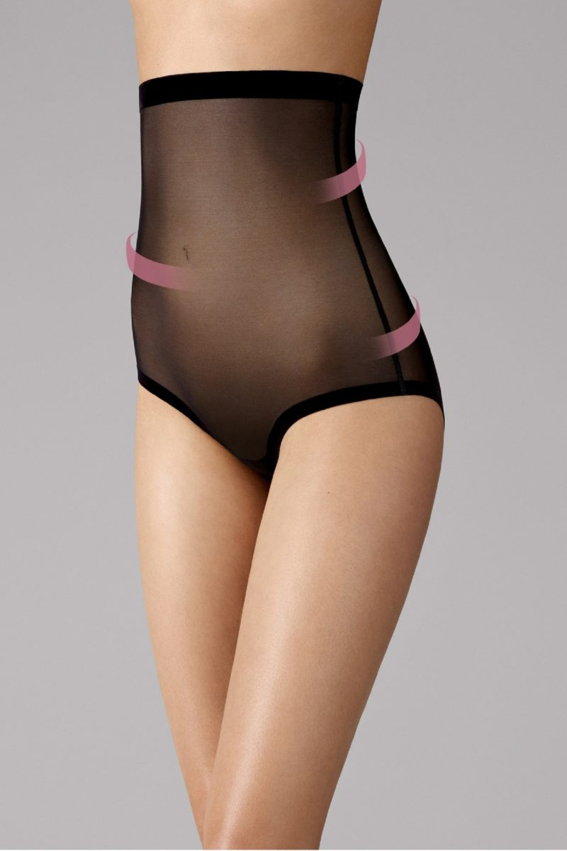 Wolford, Tulle Control Panty High Waist, 69569, 7005 black