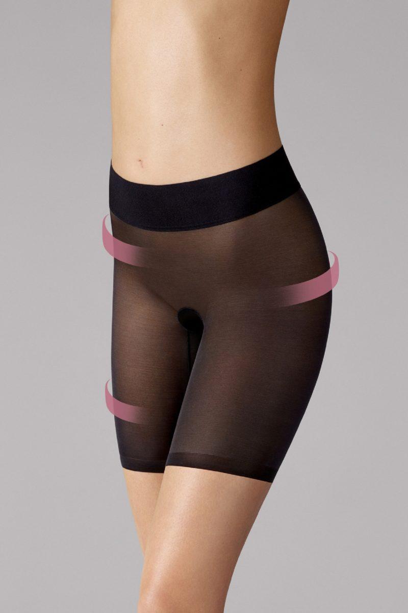 Wolford,Sheer Touch Control Shorts, majtki modelujące, 69620, 7005 black