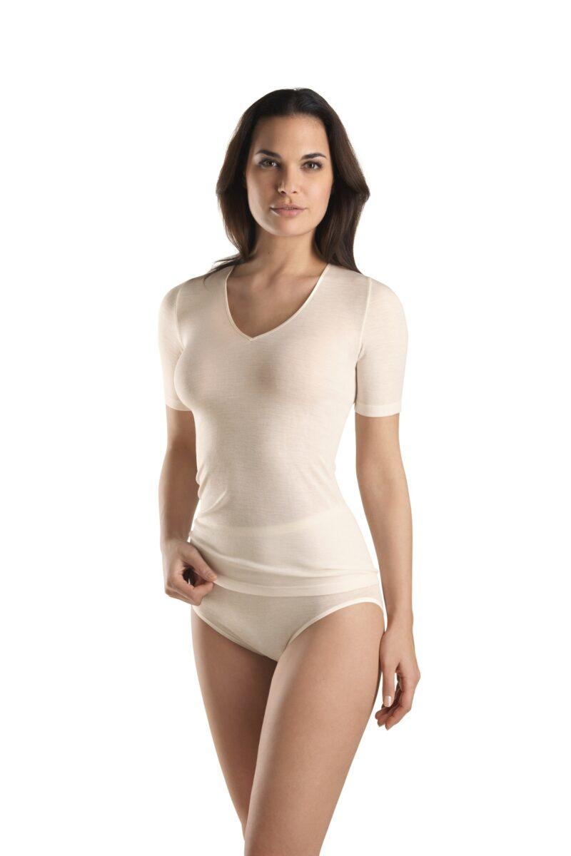 Hanro, Koszulka, Woolen Silk, 071417, 0795